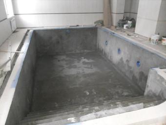 Строительство бассейна. Февраль 2015