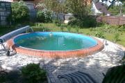 Примеры монтажа круглых сборных бассейнов
